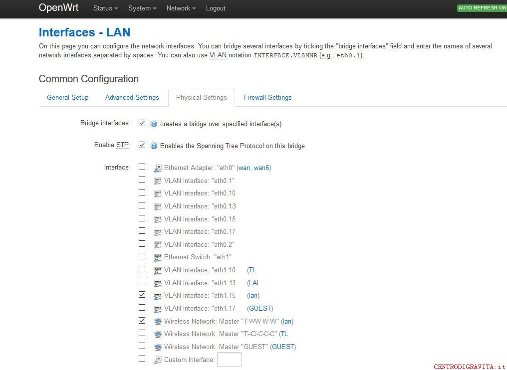 1043nd openwrt Vlan INTERFACE LAN