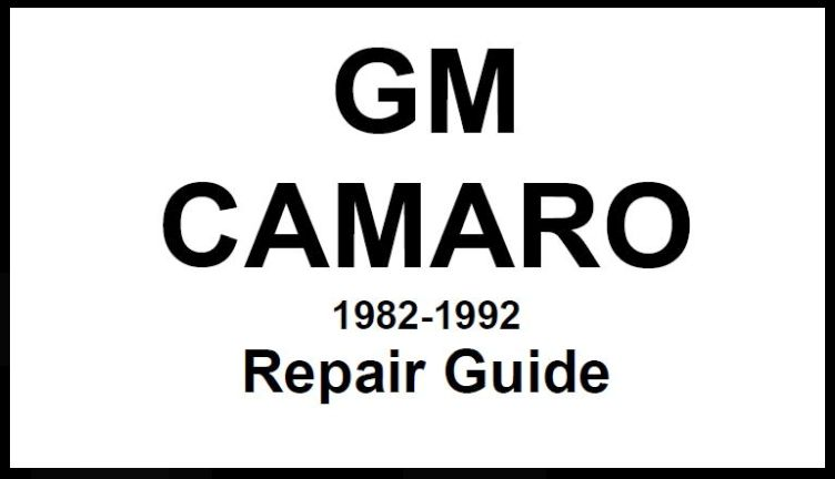 camaro repair guide